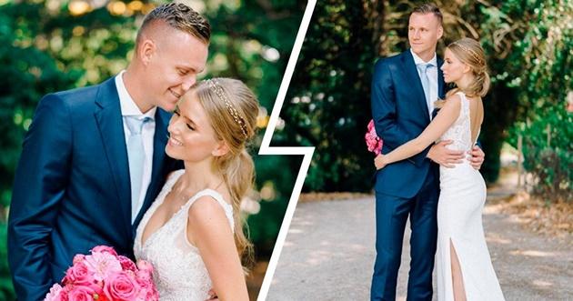Arsenal's Bernd Leno marries stunning wife Sophie - Bóng Đá