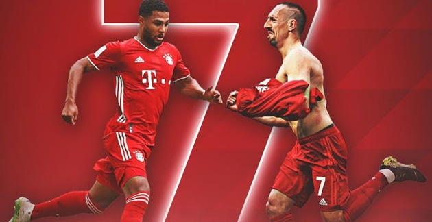 Serge Gnabry will wear the number 7 shirt starting from this season. - Bóng Đá