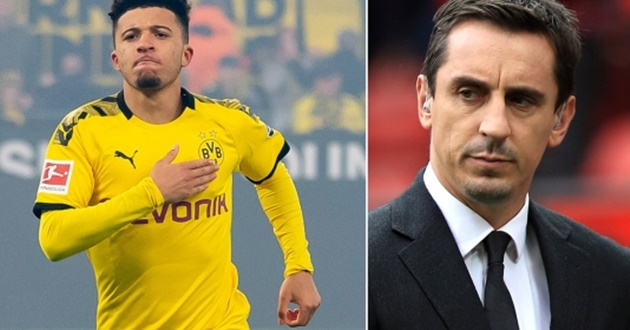 Manchester United must listen to Gary Neville about Jadon Sancho transfer - Bóng Đá