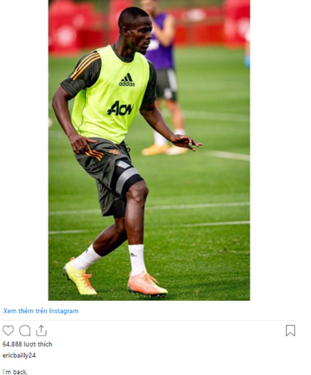 Eric Bailly sends message to Manchester United fans - Bóng Đá