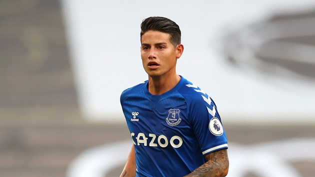 'We will not receive any money' - James joined Everton on a free transfer, - Bóng Đá