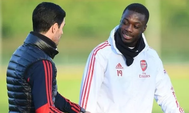 Arsenal boss Mikel Arteta's Nicolas Pepe comments shed light on his future attack - Bóng Đá