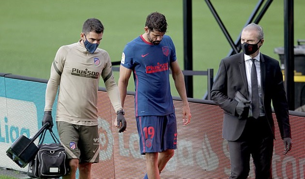 Atletico Madrid suffer injury blow as Diego Costa is ruled out - Bóng Đá