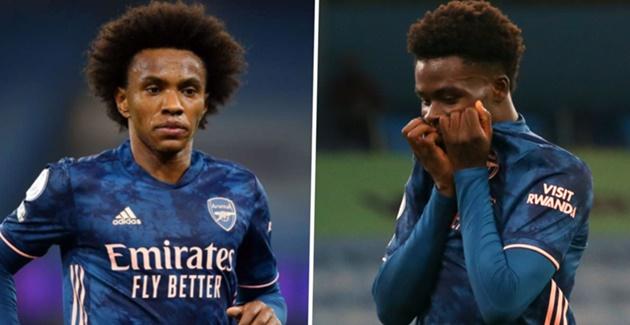 Arsenal boss Arteta provides updates on Willian and Saka injuries - Bóng Đá