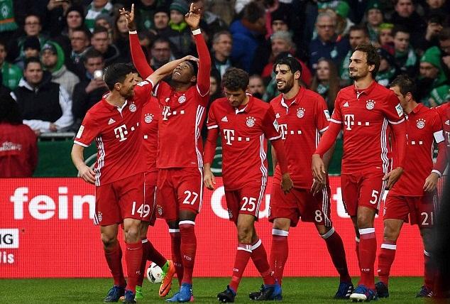 """Sau vòng 18 Bundesliga: Bayern thắng nhọc; Dortmund """"chết"""" vì chủ quan"""