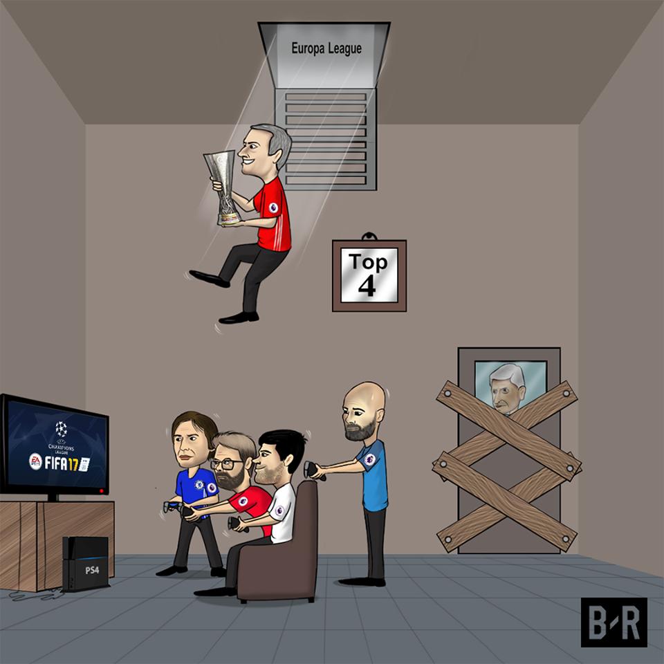 Biếm họa: Mourinho đột nhập ngôi nhà C1, Wenger bắn hạ chỉ trích - Bóng Đá