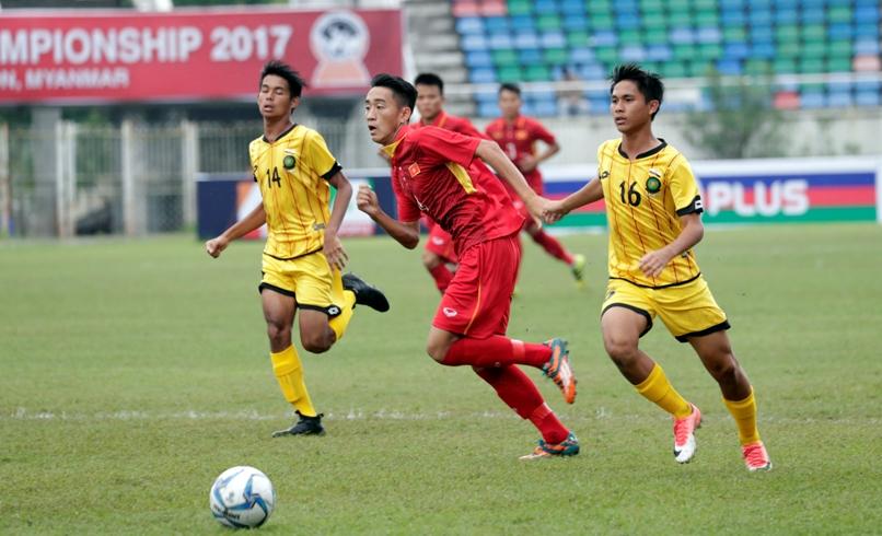 Vùi dập U18 Brunei, U18 Việt Nam khởi đầu như mơ tại giải U18 Đông Nam Á - Bóng Đá