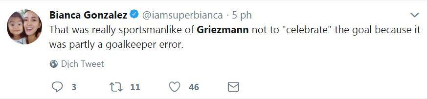 Không ăn mừng bàn thắng may mắn, Griezmann được CĐV Uruguay khen ngợi - Bóng Đá