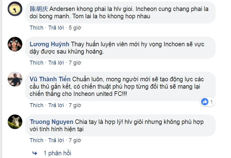 Incheon chia tay HLV Andersen, CĐV Việt Nam lên mạng cảm ơn - Bóng Đá
