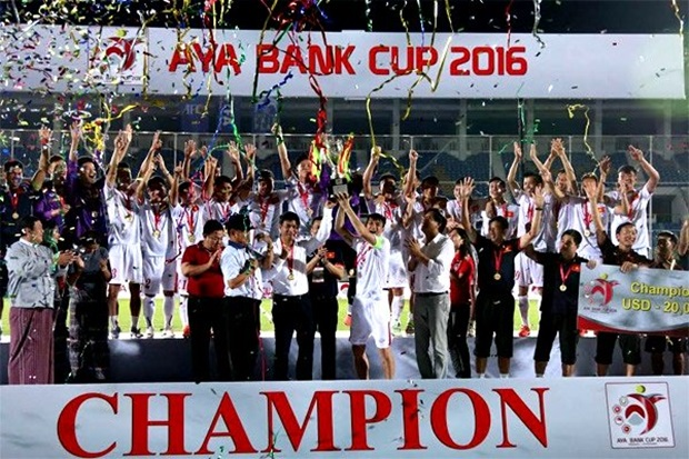 ĐT với chức vô địch trên đất Myanmar. Ảnh: Internet.