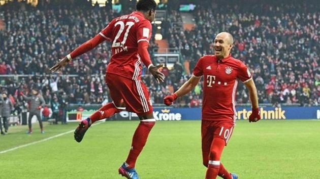 """Bayern khiến người hâm mộ lo lắng trước trận """"đại chiến"""" Arsenal"""