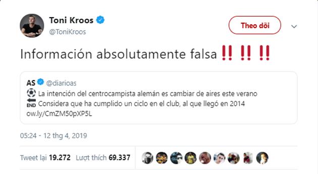 Kroos từ chối các tin đồn chuyển nhượng - Bóng Đá