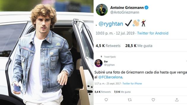 Griezmann trả lời Fan sau khi người này dự đoán đúng về tương lai của anh - Bóng Đá