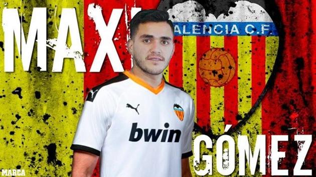 CHÍNH THỨC: Valencia chiêu mộ Maxi Gomez  - Bóng Đá