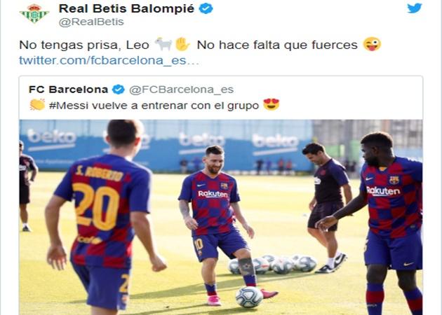 Real Betis khuyên Messi không nên trở lại ở trận cuối tuần - Bóng Đá