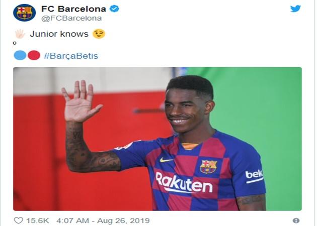 Barca phải xin lỗi NHM vì dùng Firpo để chọc ghẹo Betis - Bóng Đá