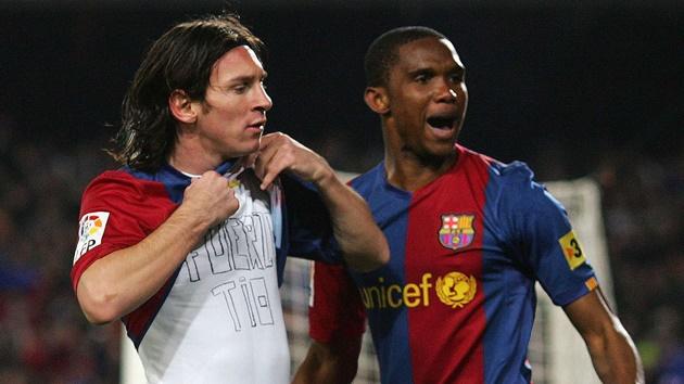 Messi gửi lời tri ân đến Eto'o - Bóng Đá