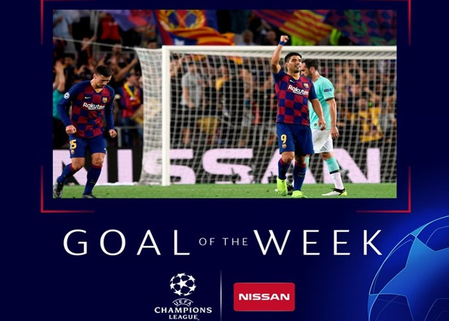 Luis Suarez's volley against Inter named Champions League goal of the week - Bóng Đá
