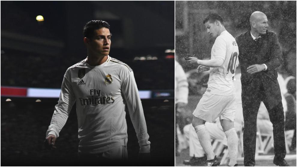 James Rodriguez follows the same path with Zidane as three years ago - Bóng Đá