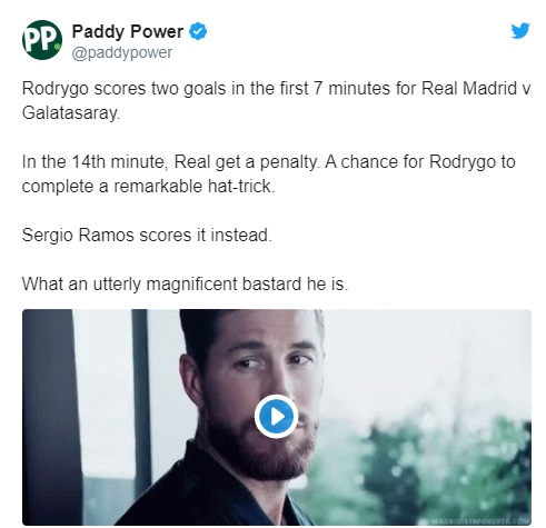 Sergio Ramos Denies Rodrygo The Chance Of A 10 Minute Hat-Trick By Taking Penalty - Bóng Đá