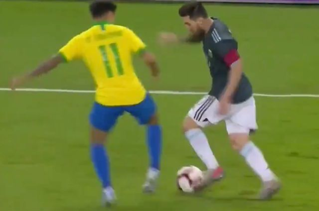 Video: Messi shows brilliant skill and pace to leave Coutinho trailing before playing superb pass in Argentina win - Bóng Đá