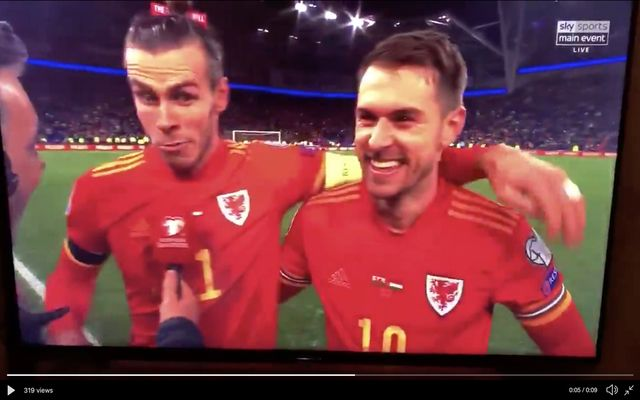 Gareth Bale accidentally swears on Sky Sports after Wales secure Euro's qualification - Bóng Đá