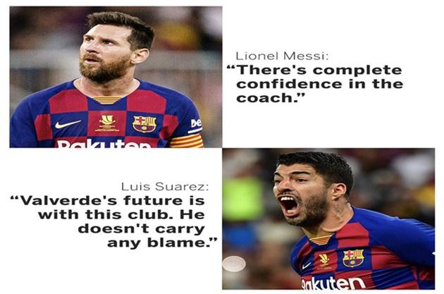 Messi, Suarez back Barcelona boss Valverde amid sacking pressure - Bóng Đá