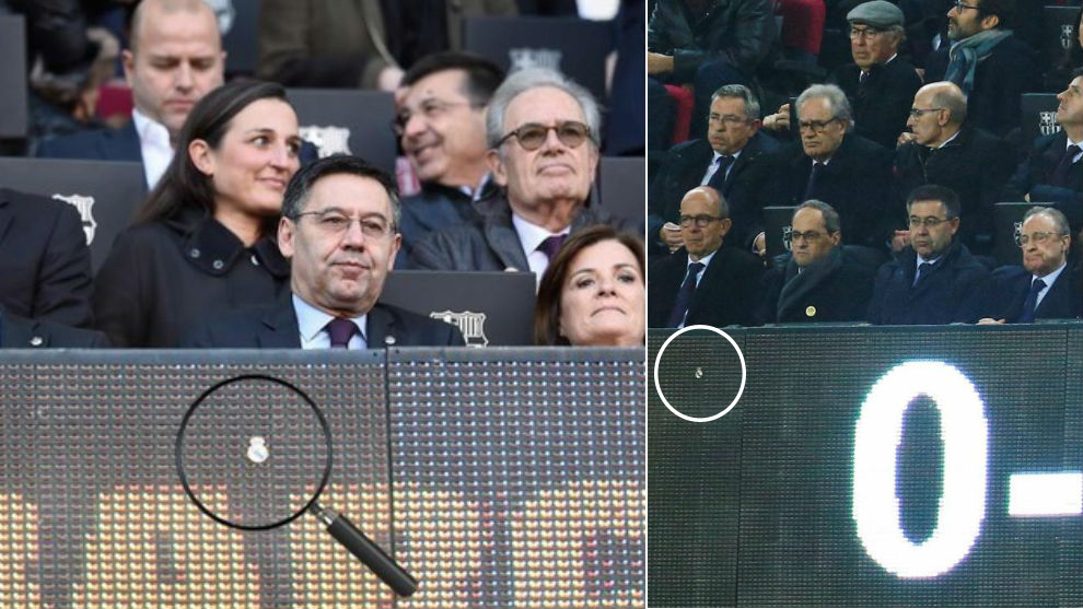 Why was there a Real Madrid badge in front of Bartomeu's seat at the Camp Nou? - Bóng Đá
