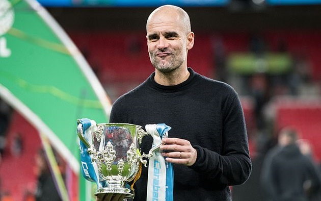 'I definitely could not have imagined it': Pep Guardiola admits surprise at Manchester City's domestic dominance after third-straight Carabao Cup triumph - Bóng Đá