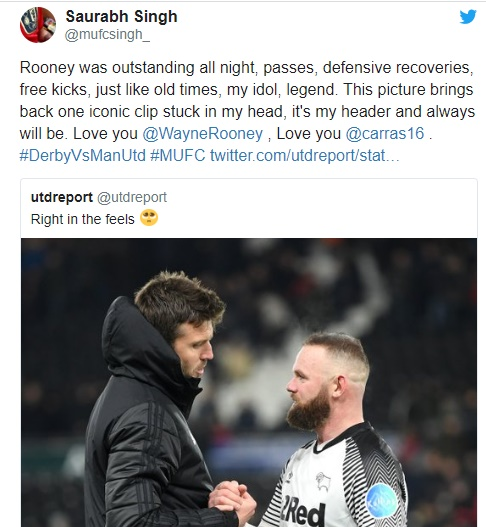 """""""Still a class above"""": These Man United fans react to Wayne Rooney's performance for Derby tonight - Bóng Đá"""