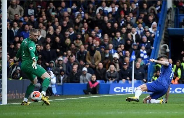 Chelsea striker Olivier Giroud praised by Alan Shearer after 'bullying' Everton defenders - Bóng Đá