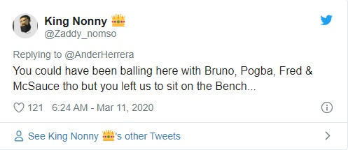 Manchester United: Fans react to Ander Herrera's Twitter post - Bó.ng Đá.