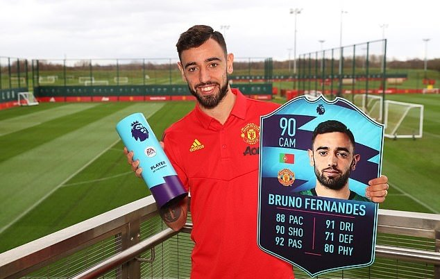 Manchester United: Fans react as Bruno Fernandes wins EA Sports FIFA Player of the Month award - Bóng Đá