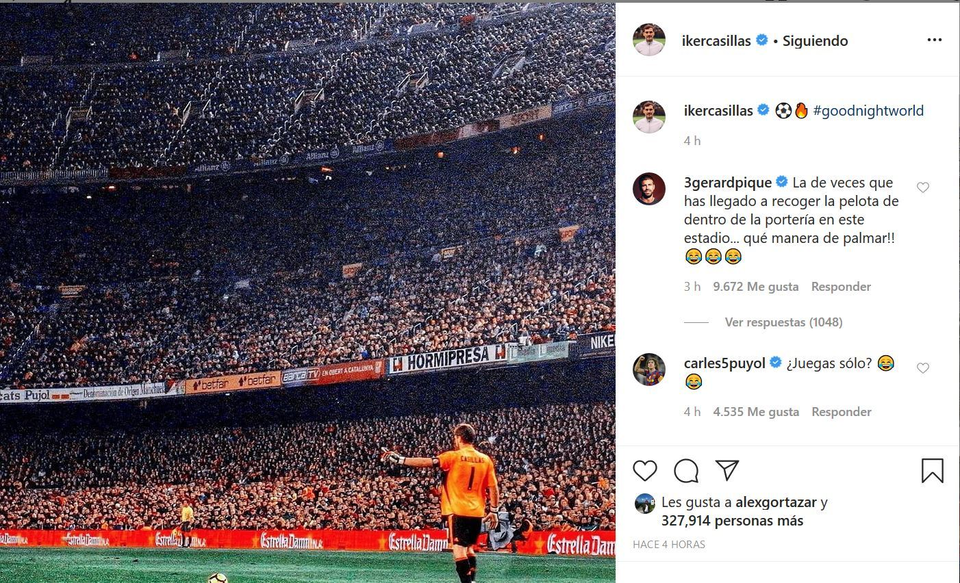 Puyol and Pique joke about Casillas' Instagram post - Bóng Đá