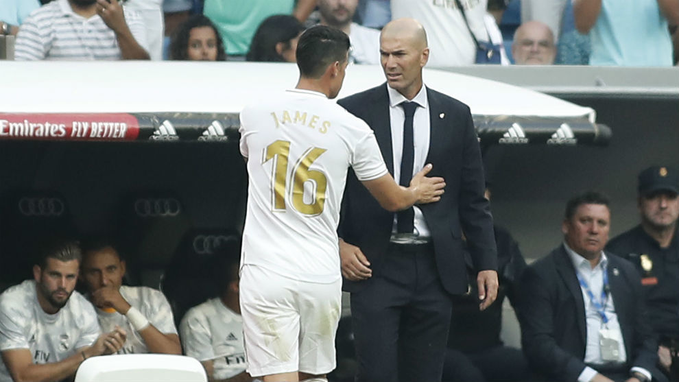 James and Zidane: The conversation which led to the Colombian being left out against Athletic - Bóng Đá