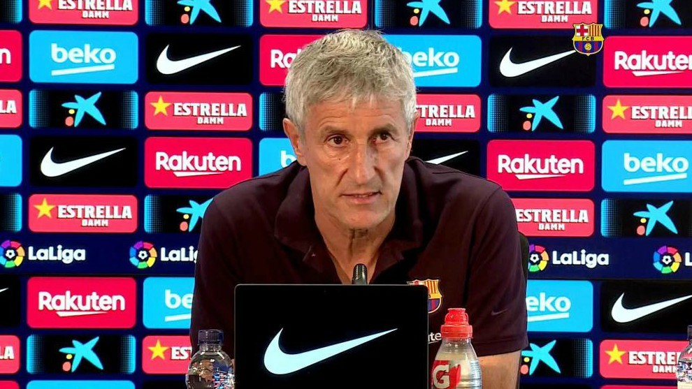 Setien: I haven't considered that the Napoli match could be my last in charge of Barcelona - Bóng Đá