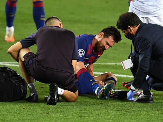Leo Messi is injured: Left foot problem before Bayern Munich - Bóng Đá