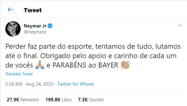 Neymar on twitter - Bóng Đá