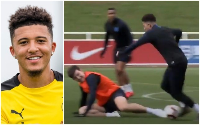 Jadon Sancho 'shocked' after embarrassing Manchester United captain Harry Maguire in England training   - Bóng Đá