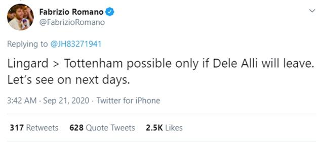 Jesse Lingard to Tottenham transfer hinges on Dele Alli exit - Bóng Đá