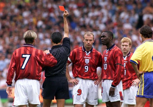Maguire, Rooney, Beckham: Which players have been sent off for England? - Bóng Đá