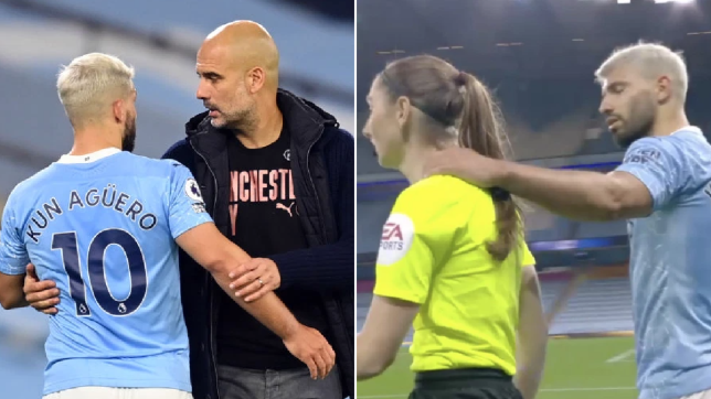 He's the nicest person! – Manchester City boss Pep Guardiola defends Sergio Aguero over Sian Massey-Ellis grab   - Bóng Đá