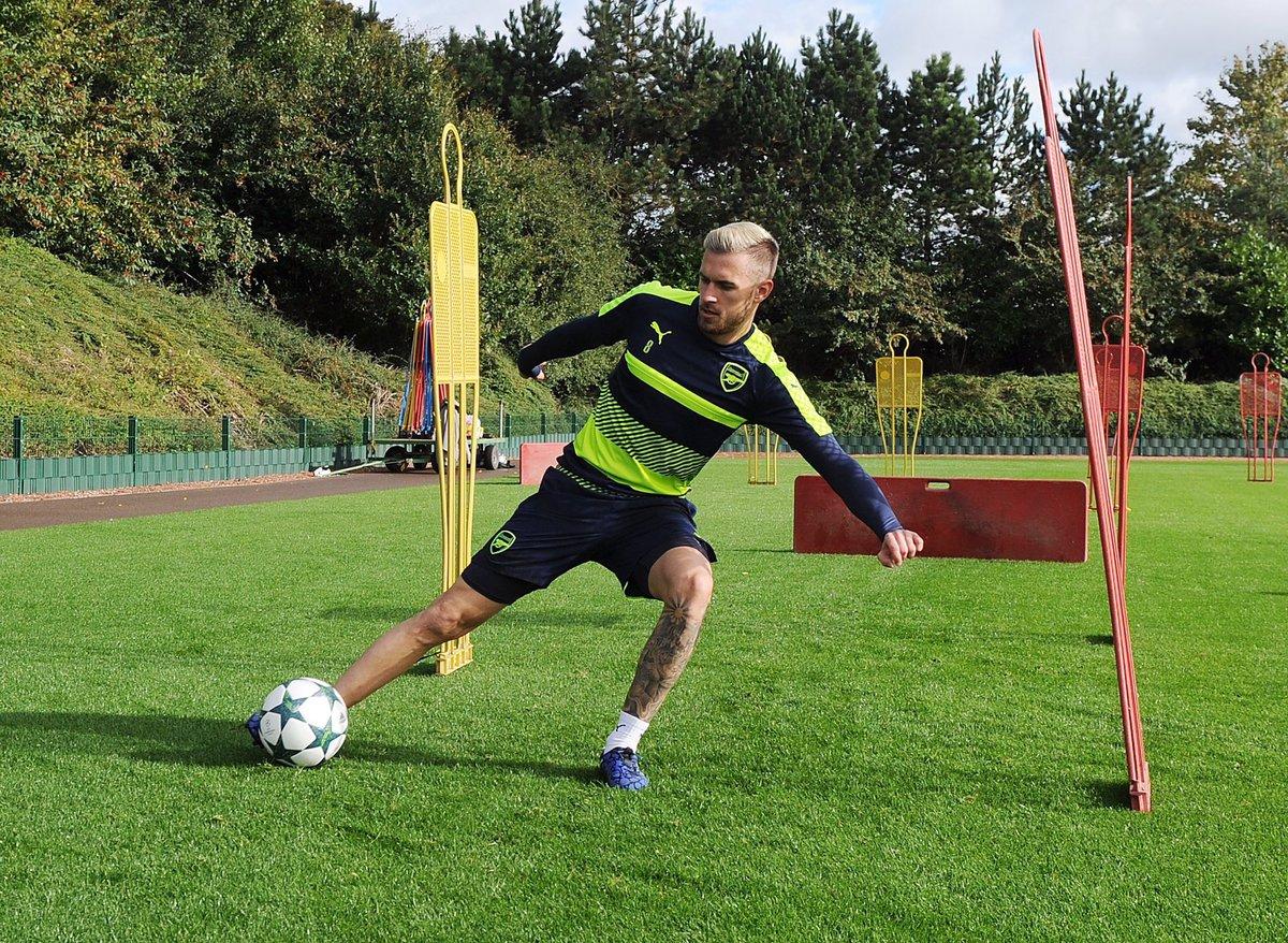 Ramsey sẽ ra sân ở Champions League giữa tuần này. Ảnh