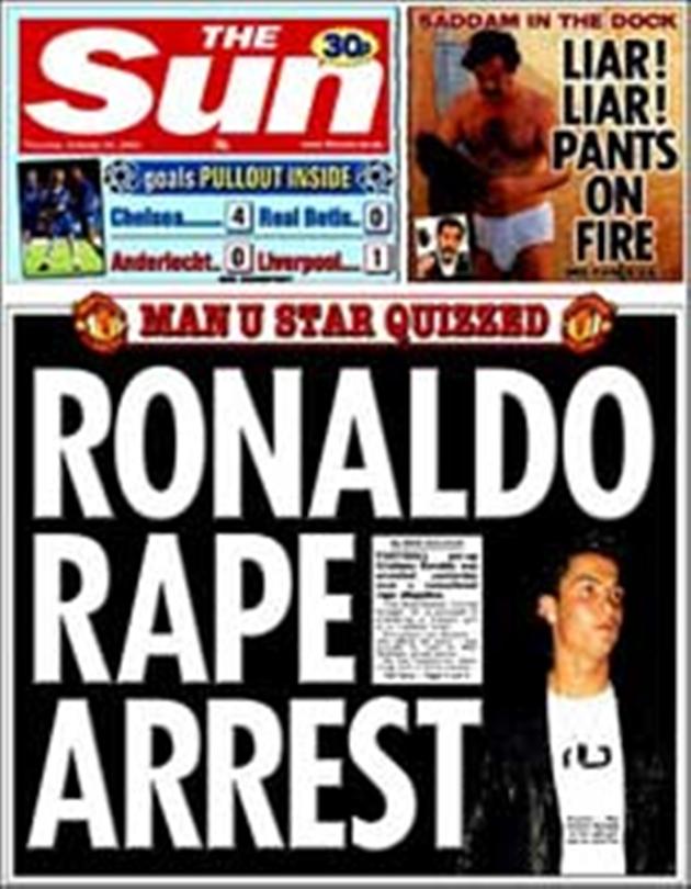 SỐC: Ronaldo từng hiếp dâm, chi tiền bịt miệng nạn nhân? - Bóng Đá