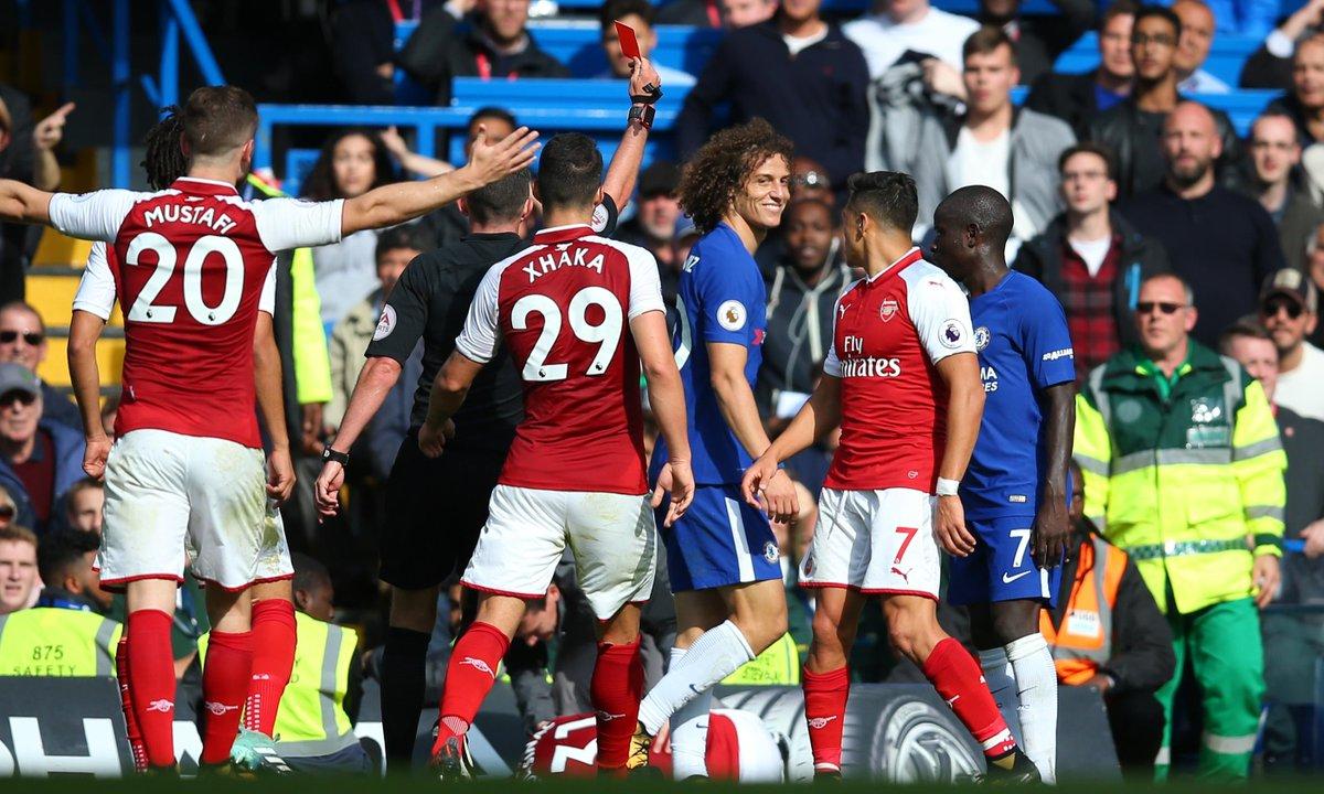 David Luiz bị đuổi, Chelsea cầm chân Arsenal  - Bóng Đá
