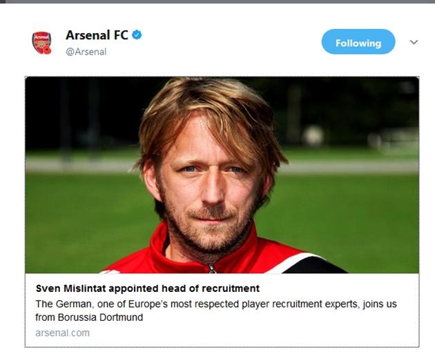 CHÍNH THỨC: Arsenal chiêu mộ