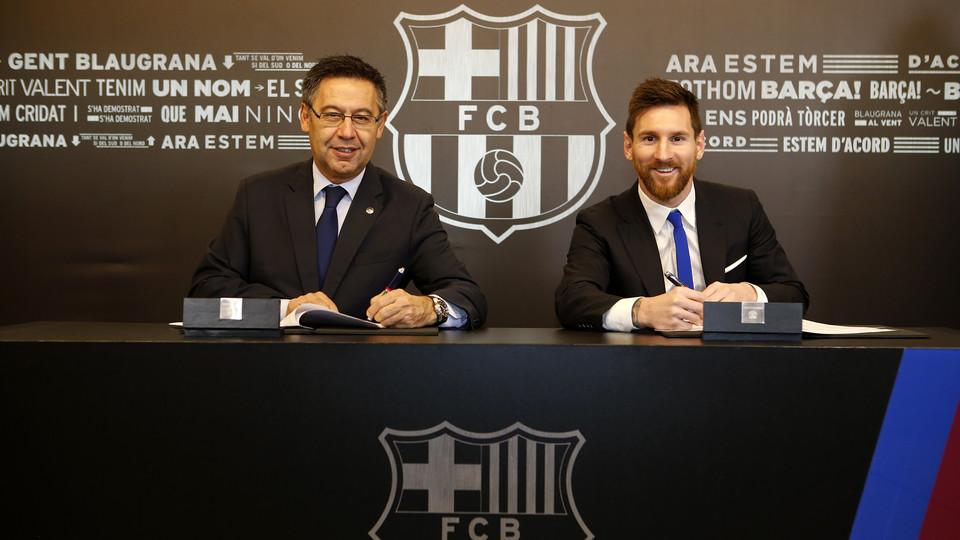 CỰC NÓNG: Messi ký hợp đồng mới với Barca - Bóng Đá
