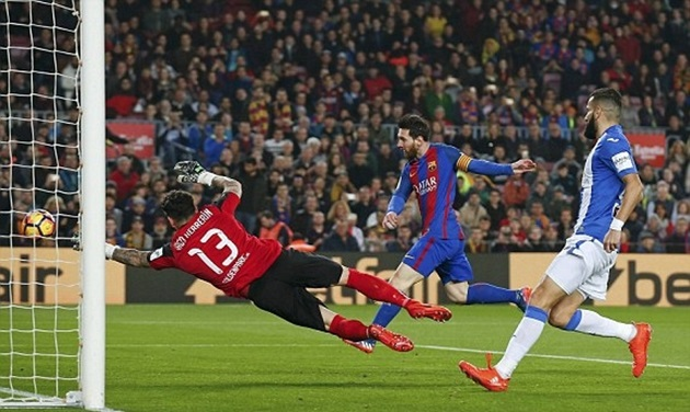 Hai lần xé lưới Leganes, Messi giúp Barca nhọc nhằn giành chiến thắng