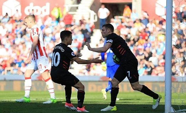 Thay người như thần, Liverpool ngược dòng ấn tượng trước Stoke - Bóng Đá