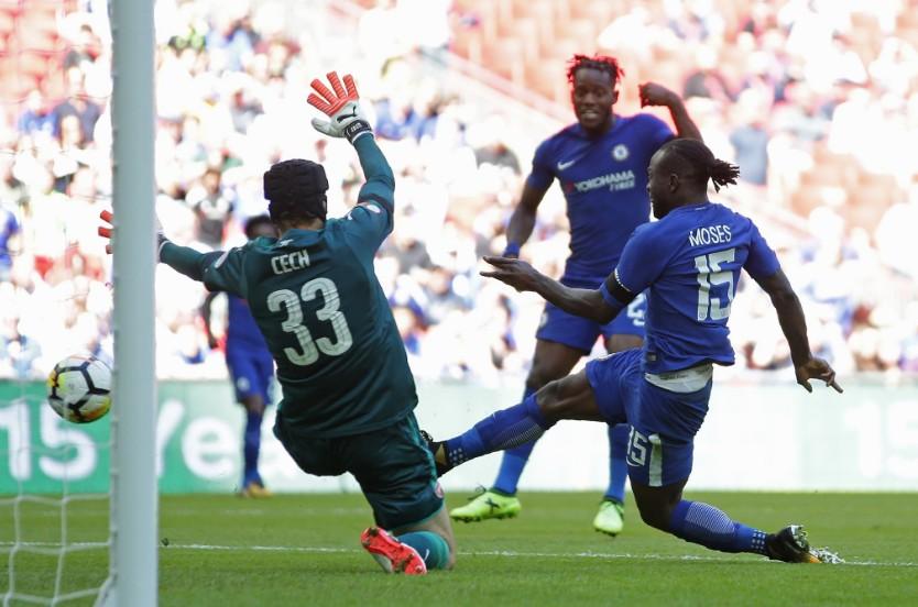 Xé lưới Arsenal, Moses chấm dứt cơn khát bàn thắng - Bóng Đá
